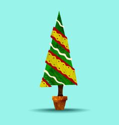 green holiday christmas tree plant vector image