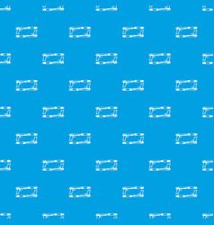Gun pattern seamless blue vector