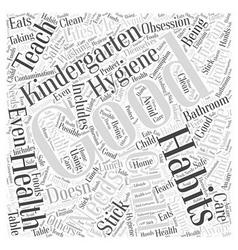 Health Needs and Kindergarten Word Cloud Concept vector image