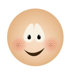 Human face emoticon smile expression vector
