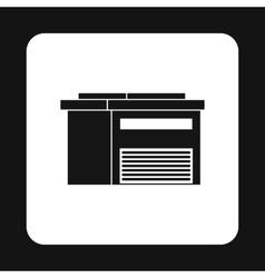 Industrial building icon simple style vector