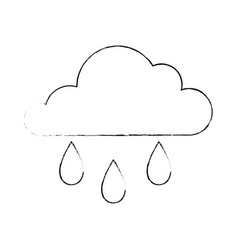 isolated rain cloud vector image