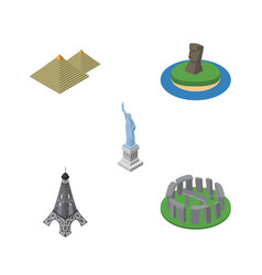 Isometric attraction set of new york egypt chile vector