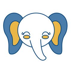 Kawaii elephant icon vector