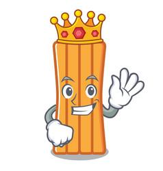 King air mattress mascot cartoon vector
