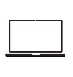 laptop icon on white background laptop sign flat vector image