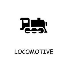 Locomotive flat icon vector