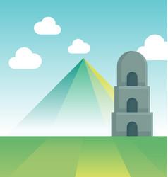 Mayon volcano vector