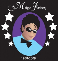 Michael jackson rip vector