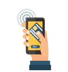 Mobile payments near field communication vector image