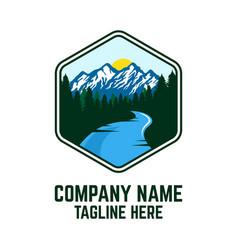 modern mountains logo vector image