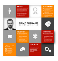 Mosaic cv resume template vector