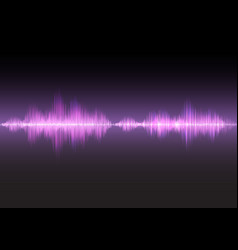 pink sound waves glow light vector image