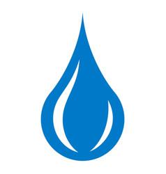 raindrop icon simple style vector image