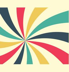 retro star shaped background radial swirled vector image