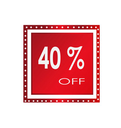 sale 40 off banner design over a white vector image