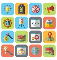 Seo icons set vector