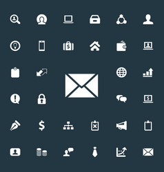 Set simple business icons elements cooperation vector