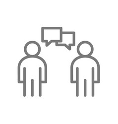 simple people talking line icon symbol and sign vector image