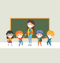 social distance rules for children vector image