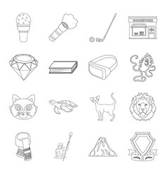 Sport library animal and other web icon in vector