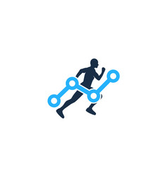 stats run logo icon design vector image