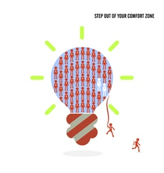 Step out your comfort zone idea concept vector