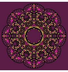 Stylized flower mandala like oriental design in vector image