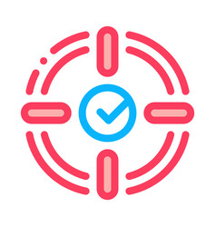target check mark icon outline vector image
