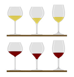 the glass vector image