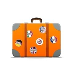 Travel Suitcase Isolated Flat Design vector