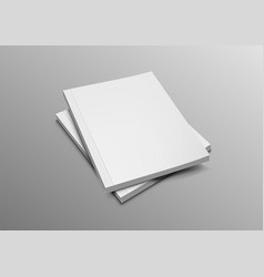 two blank catalogs magazines or books mockup vector image