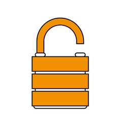 unlocked lock design vector image