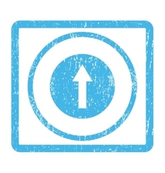 Up Rounded Arrow Icon Rubber Stamp vector