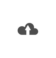 upload flat icon isolated on white background vector image