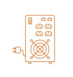 Ups uninterruptible power supply electrical vector