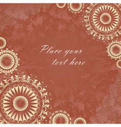 Vintage banner with floral lace vector image
