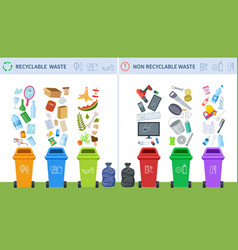 Waste recycling trash recycle management garbage vector