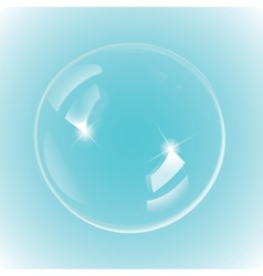 White bubble on blue background vector image