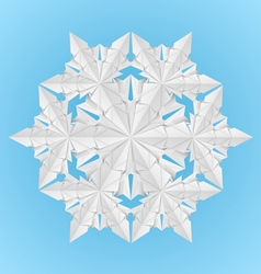 white paper snowflake vector image