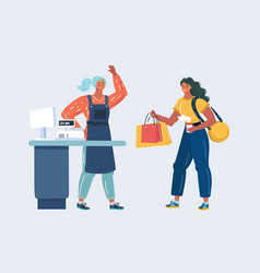 woman are shopping vector image