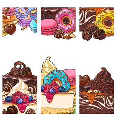 banner label postcard templates with sweet vector image