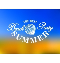 Best beach party poster vector image vector image