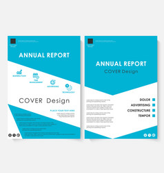 blue cover design template brochure vector image vector image