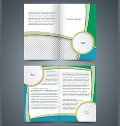 booklet template design with stripes vector image