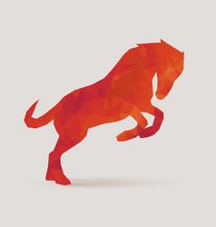 horse polygon silhouette vector image vector image