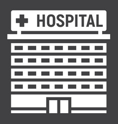 hospital building glyph icon medicine vector image