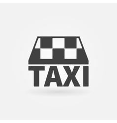 Taxi icon or logo vector image vector image