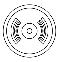 Vinyl record icon outline style vector image
