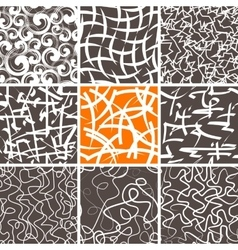 Abstract Doodle Seamless Patterns Set vector image vector image